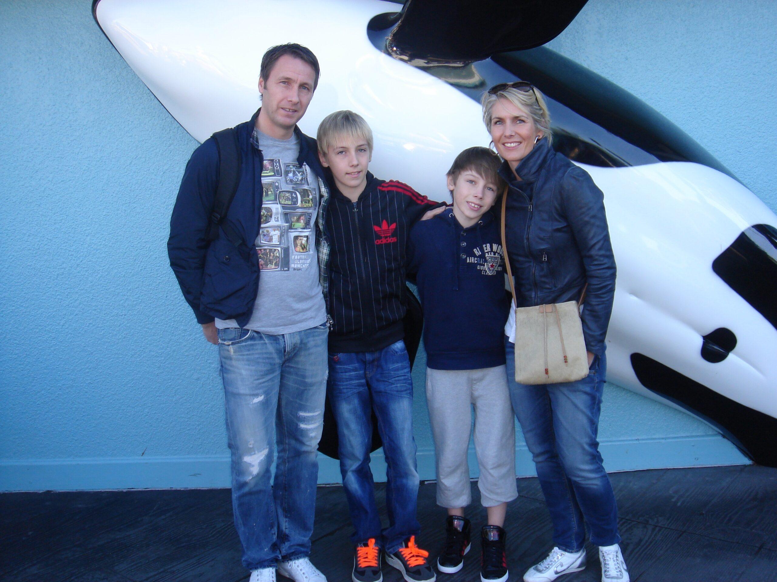 Michel Kreek met gezin
